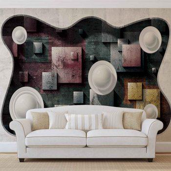 Modern Abstrakt Design Kunst Kugeln Fototapete