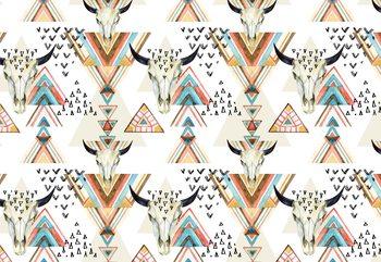 Modern Boho Chic Pattern Fototapete