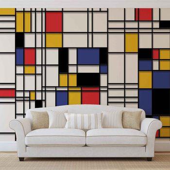 Mondrian Moderne Kunst Fototapete
