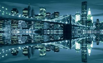 New York  Skyline Brooklyn Bridge Fototapete