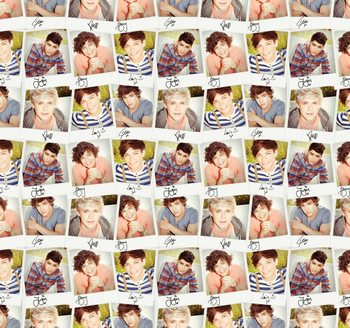 One Direction - Collage Tapete
