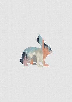 Pastel Rabbit Fototapete