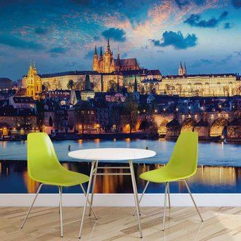 Prag City Fluss Fototapete