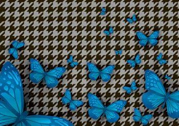 Schmetterlinge Muster Fototapete