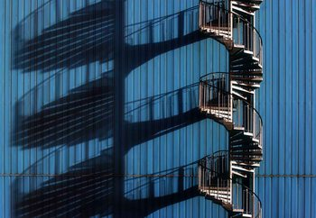 Spiral Staircase And Shadows Fototapete