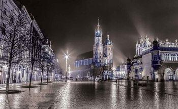 Stadt Krakau Nacht Fototapete