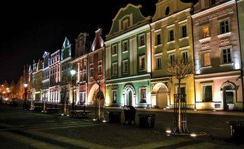 Stadt Skyline Nacht Fototapete