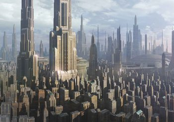Star Wars Stadt Coruscant Fototapete
