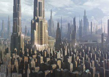 Star Wars Stadt Coruscant Fototapete