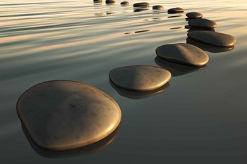 Steine Strand Zen Fototapete