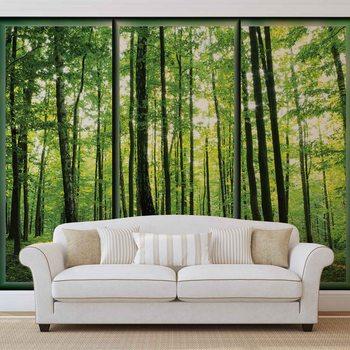 Wald Bäume Grün Natur Fototapete