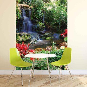 Wasserfall Wald Natur Fototapete
