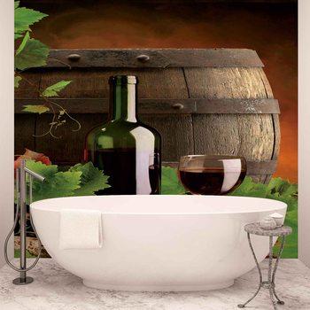Wein Weinfass Fototapete