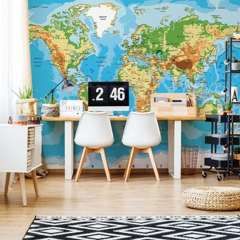 World Map Atlas Fototapete