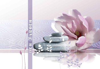 Zen Garten Lotosblume Steine Fototapete