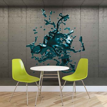 Abstract Concrete Paint Design Fototapet