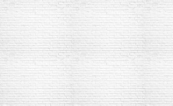 Brick Wall White Fototapet