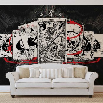 Cards Skull Tarot Fototapet