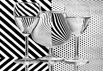 Dots And Stripes Fototapet