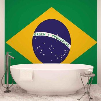 Flag Brasil Fototapet