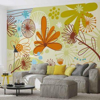 Floral Pattern Fototapet