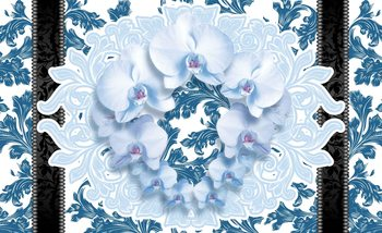 Flowers Floral Pattern Fototapet