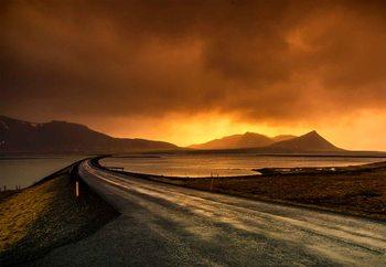 Follow The Road Fototapet