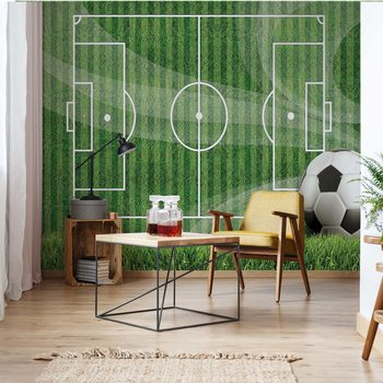 Football Pitch Fototapet