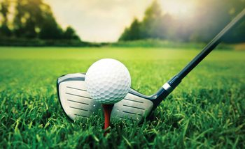 Golf Ball Club Fototapet