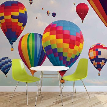 Hot Air Baloons Colours Fototapet