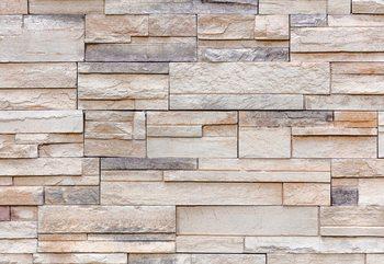 Light Stone Wall Texture Fototapet