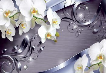 Luxury Ornamental Design Orchids Fototapet