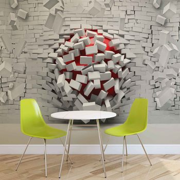 Modern Abstract Brick Wall Fototapet