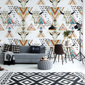 Modern Boho Chic Pattern Fototapet