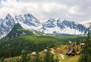 Mountains Alps Fototapet
