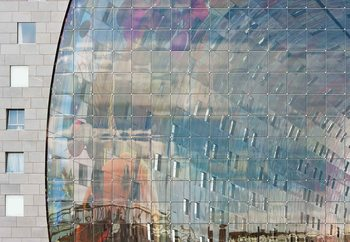 Movement Behind Facade Fototapet