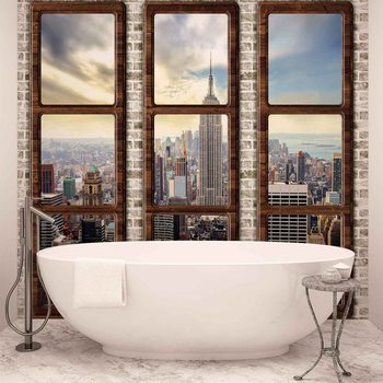 New York City Skyline Window View Fototapet