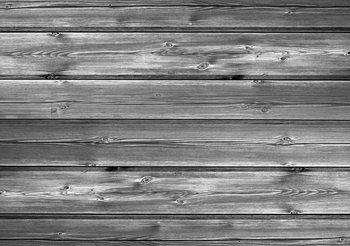 Pattern Grey Wooden Fototapet