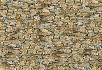 Rustic Stone Wall Fototapet