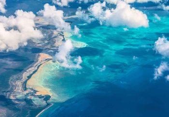 Sand Beach Meets Ocean Fototapet