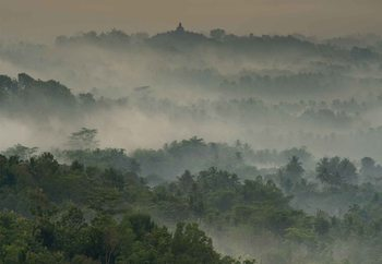 Temple In The Mist Fototapet