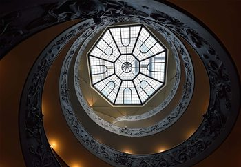 The Double Helix Staircase Fototapet