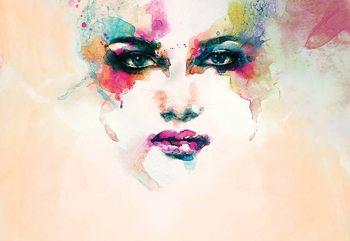 Watercolour Face Fototapet
