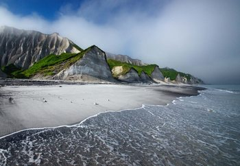White Cliffs Of Iturup Island Fototapet