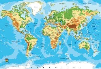 World Map Atlas Fototapet