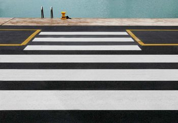 Zebra Crossing To The Sea Fototapet