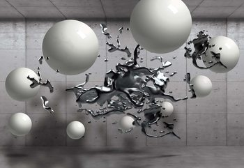 Fototapeta 3D Abstract Design Molten Metal Balls