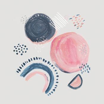 Abstract mark making circles Fototapeta