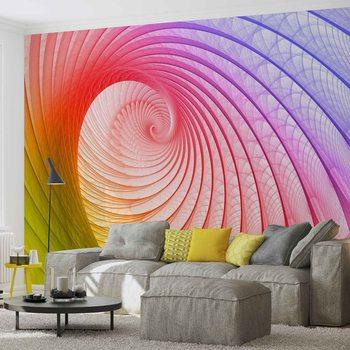Abstrakcyjna kolorowa spirala Fototapeta