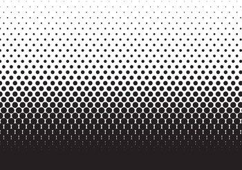 Abstrakcyjne czarne kropki Fototapeta